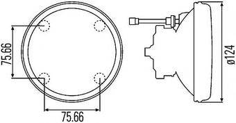 D120мм Оптический элемент HELLA (белый) дал/с