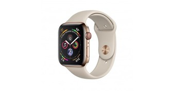 Часы Apple Watch Series 4 GPS + Cellular 44mm Stainless Steel Case with Sport Band Gold