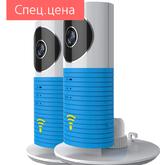 Комплект из 2-х беспроводных IP видеокамер Clever Dog (Верный Пес) с функцией Wi-Fi, P2P