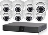 Комплект Видеонаблюдения IP 2MPX Для Дома и Офиса со встроенными микрофонами 8+8