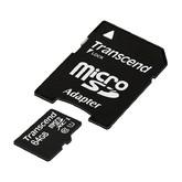 micro SDXC карта памяти Transcend 8GB Class 10 с адаптером