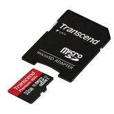 micro SDXC карта памяти Transcend 8GB  Class 6 с адаптером