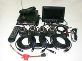 """Набор видеонаблюдения на транспорте GPS, WiFi, 3G, 2.5"""" HDD 1.0 Mpx 4+4"""