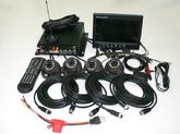 Набор видеонаблюдения на транспорте GPS, WiFi, 3G, 2SD карты, 1.0 Mpx 4+4
