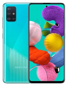 Смартфон Samsung Galaxy A51 64GB, синий