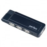 Perfeo USB-HUB 4 Port, (PF-VI-H021 Black) чёрный