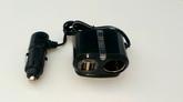 Разветвитель прикуривателя Olmio 12/24В 1 гнездо + 2 USB 2.1A