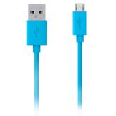 Usb Кабель-зарядка для iPhone 5/5s/6/6s Belkin плоская синяя