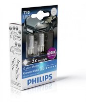Светодиоды Philips LED W5W T10 Blue Vision 6000K