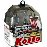 Галогеновые лампы Koito WhiteBeam III — HB3 4200K
