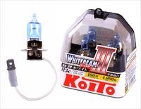 Галогеновые лампы Koito WhiteBeam III — H3 4000K