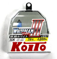 Галогеновые лампы Koito WhiteBeam III — H8 4000K